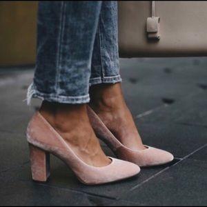 louise et cie jianna stacked heel pump
